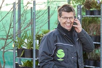Gert-Jan Schonenberg aan de telefoon